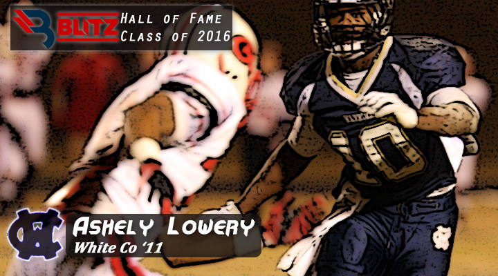 BLITZ HOF - Ashely Lowery Football - WHITE CO