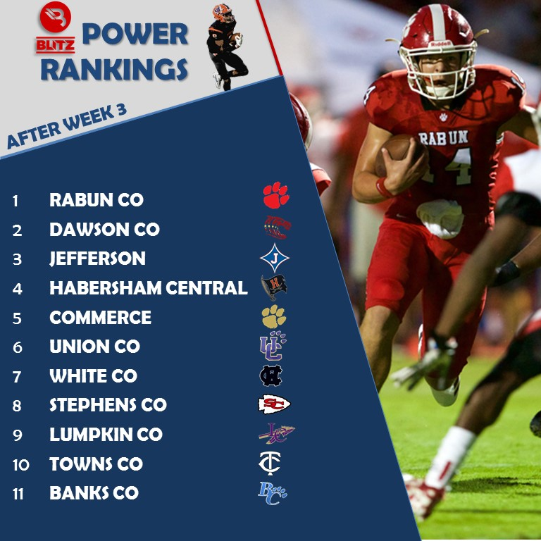 POWER RAKINGS - AFTER WEEK 3